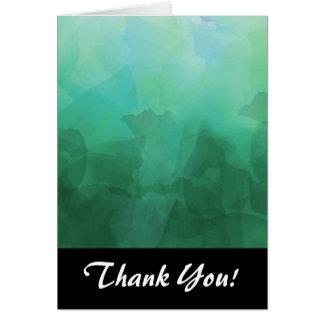 鮮やかなアクアマリンの水彩画の背景 カード