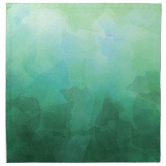 鮮やかなアクアマリンの水彩画の背景 ナプキンクロス