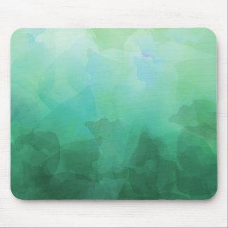 鮮やかなアクアマリンの水彩画の背景 マウスパッド