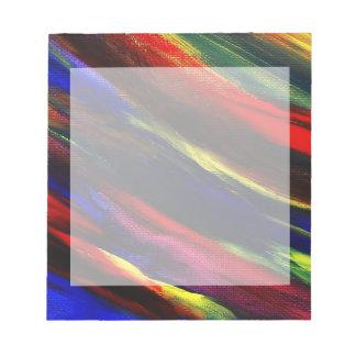 鮮やかなアクリルの抽象芸術のボーダーメモ帳 ノートパッド