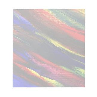 鮮やかなアクリルの抽象芸術 ノートパッド