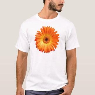 鮮やかなオレンジおよび黄色のガーベラのデイジー Tシャツ
