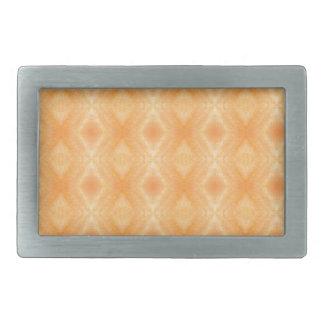 鮮やかなオレンジダイヤモンドパターン 長方形ベルトバックル