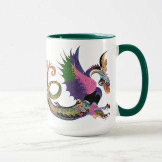 鮮やかなドラゴン マグカップ