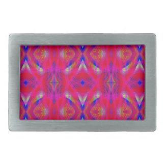 鮮やかなネオンショッキングピンクの上品パターン 長方形ベルトバックル