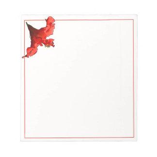 鮮やかなハイビスカスの花 ノートパッド