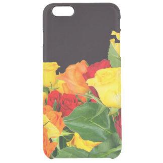 鮮やかなバラの黒い背景 クリア iPhone 6 PLUSケース