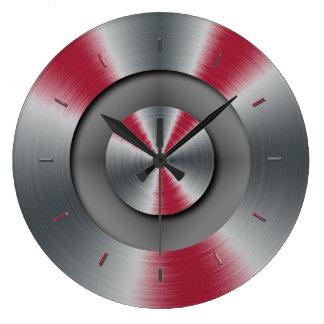 鮮やかなバーガンディの音色の補足 ラージ壁時計