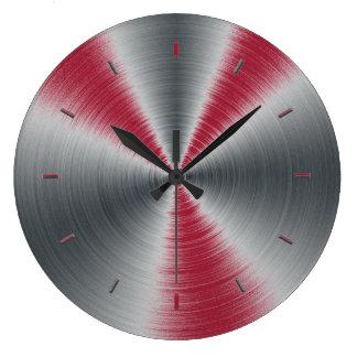鮮やかなバーガンディは1色をはねかけます ラージ壁時計
