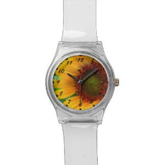 鮮やかなヒマワリ 腕時計