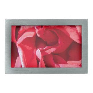 鮮やかなピンクのバラの花びら 長方形ベルトバックル