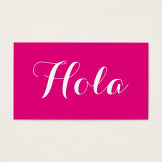 鮮やかなピンクのHolaの名刺 名刺