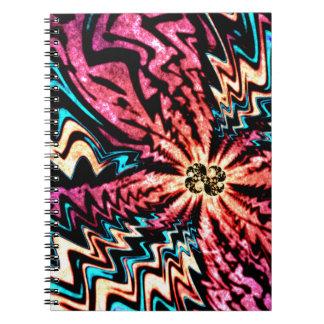 鮮やかなフラクタル ノートブック