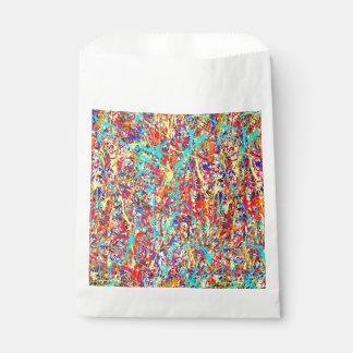 鮮やかなペンキの(ばちゃばちゃ)跳ねるの抽象芸術 フェイバーバッグ