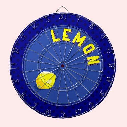 鮮やかなレモン ダーツボード