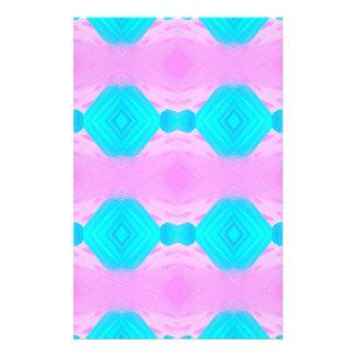 鮮やかな大衆文化のピンクの青いパステルパターン 便箋
