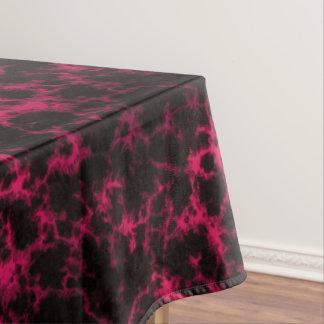 鮮やかな斑点を付けられたピンクおよび黒い炎 テーブルクロス