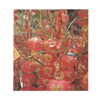 鮮やかな旧正月のランタンの表示 ノートパッド