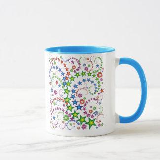 鮮やかな星の構成 マグカップ