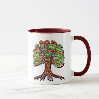 鮮やかな木のマグ マグカップ