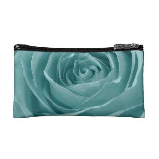 鮮やかな水は、花の自然の写真上がりました コスメティックバッグ