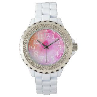 鮮やかな水彩画 腕時計