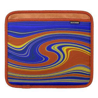 鮮やかな渦巻く瑪瑙のストライプのなiPadの袖 iPadスリーブ