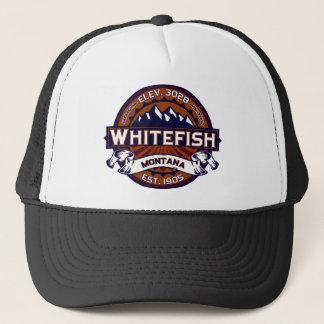 鮮やかな白い魚 キャップ
