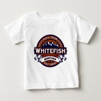 鮮やかな白い魚 ベビーTシャツ