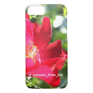 鮮やかな真っ赤なバラ☆バージョン2☆ iPhone 7ケース