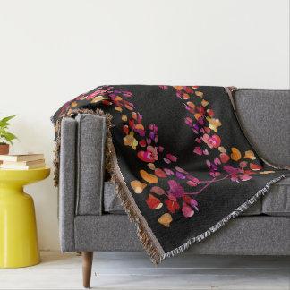 鮮やかな秋は様式化された花パターンを着色します スローブランケット