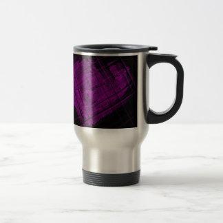 鮮やかな紫色の衛星ステンドグラス トラベルマグ