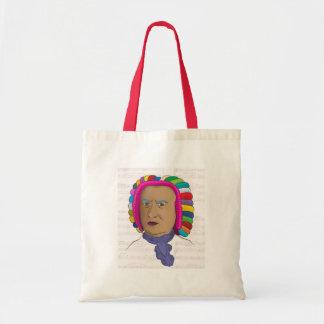 鮮やかな色のかつらのポップアートのヨハン・ゼバスティアン・バッハ トートバッグ