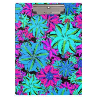 鮮やかな花のコラージュ クリップボード