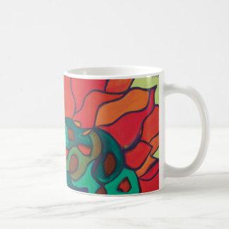 鮮やかな花のマグ コーヒーマグカップ