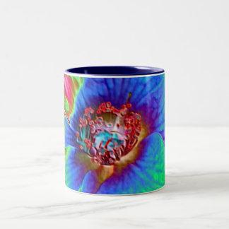 鮮やかな花のマグ ツートーンマグカップ
