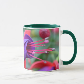 鮮やかな花のマグ マグカップ