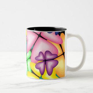 鮮やかな花 ツートーンマグカップ