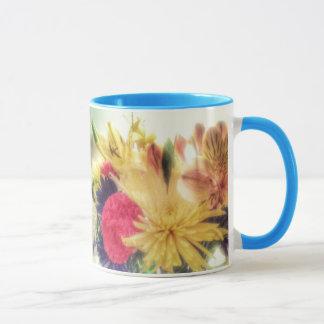 鮮やかな花 マグカップ