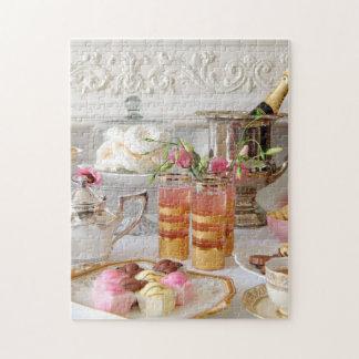 鮮やかな英国の茶、フォンダンの空想のパズル ジグソーパズル