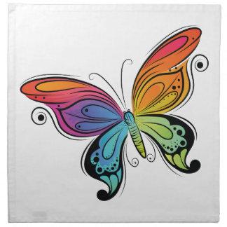 鮮やかな蝶 ナプキンクロス
