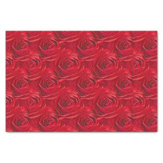 鮮やかな赤いバラの花の写真の抽象芸術パターン 薄葉紙