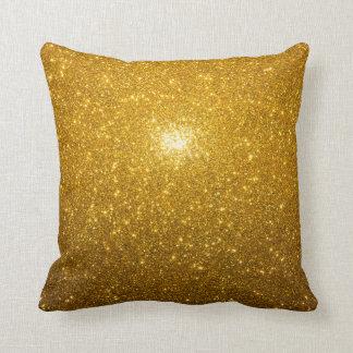 鮮やかな金ゴールド クッション