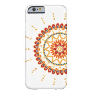鮮やかな金日曜日および花の曼荼羅 BARELY THERE iPhone 6 ケース