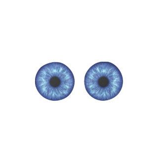 鮮やかな青い目、Shineyおよび明るい ピアス
