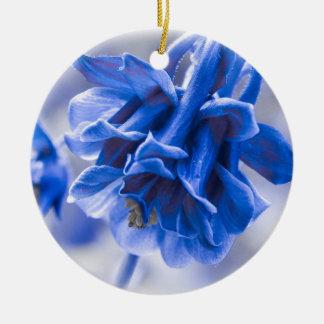 鮮やかな青オダマキ(植物) セラミックオーナメント