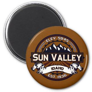 鮮やかなSun Valleyのロゴ マグネット