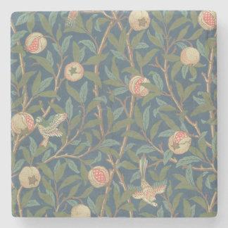 「鳥およびザクロ」の壁紙のデザイン、印刷されたb ストーンコースター