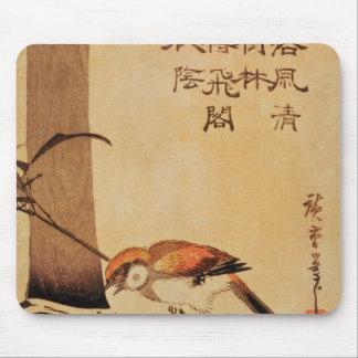 鳥およびタケ、c.1830、 マウスパッド