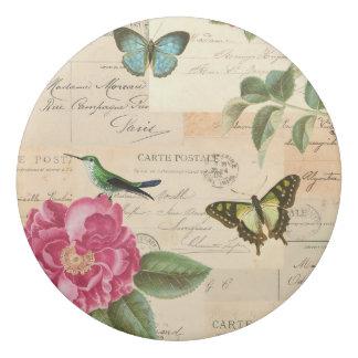鳥およびバラが付いているヴィンテージのガーリーな花の消す物 消しゴム
